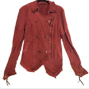 Free People terry sweatshirt jacket